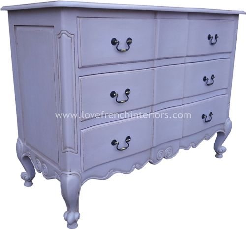 Rochelle Star 3 Drawer French Chest in your choice of colour